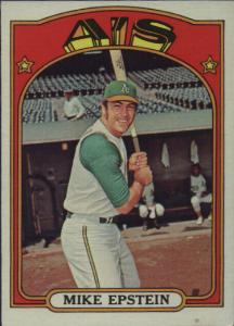 1972 Topps Baseball Cards      715     Mike Epstein
